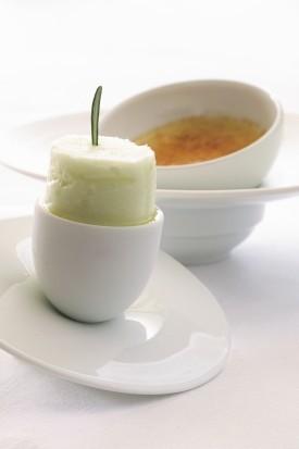 Crème Brûlée van epoisses met venkelsorbet (Recept Jonnie Boer)